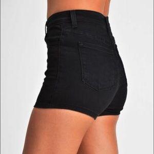 JUDY BLUE Black Retro Denim Shorts